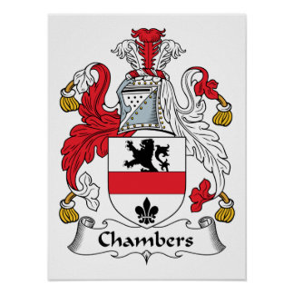 Chambers Family Crest Posters
