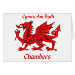 Chambers Welsh Dragon Card