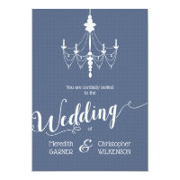 Chambray Vintage Chandelier Wedding Invitation