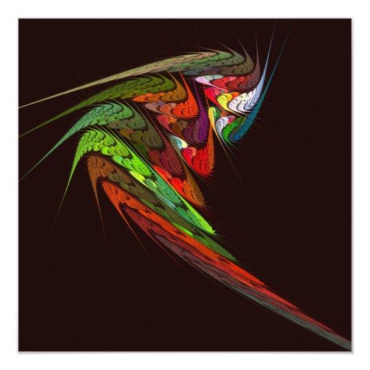 Chameleon Abstract Art Card