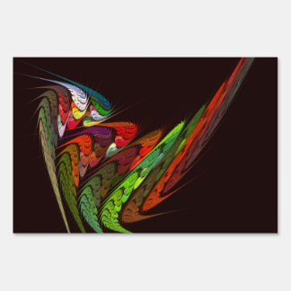 Chameleon Abstract Art Lawn Sign