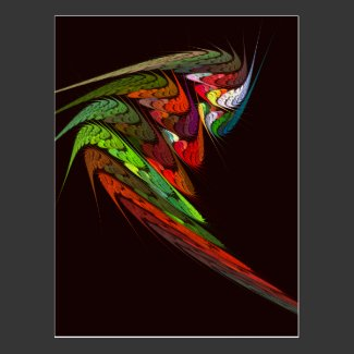 Chameleon Abstract Art Postcard