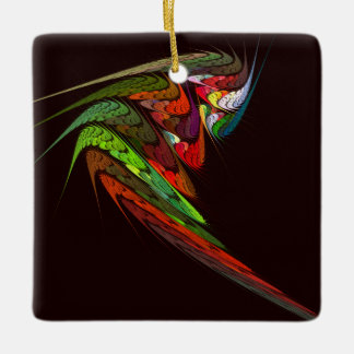 Chameleon Abstract Art Square Ornament