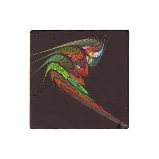 Chameleon Abstract Art Stone Magnet