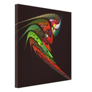 Chameleon Abstract Art Wrapped Canvas Print