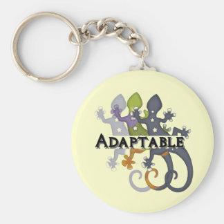 Chameleon Adaptable Basic Round Button Keychain