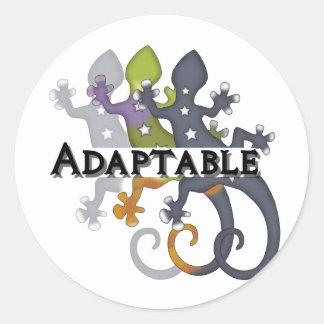 Chameleon Adaptable Round Sticker