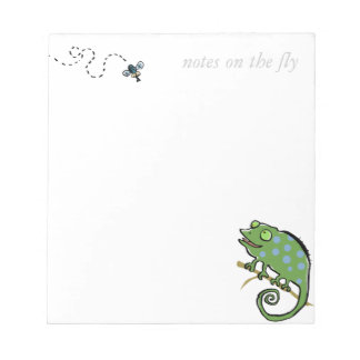 "chameleon and fly - ""with your own words"" notepad"