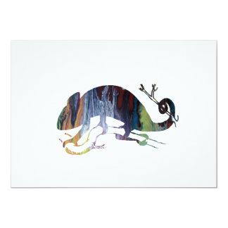 chameleon art card
