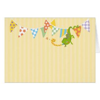 Chameleon birthday card