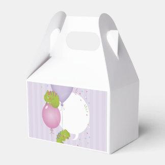 Chameleon birthday favor box