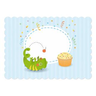 Chameleon birthday invitations