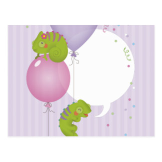 Chameleon birthday postcard