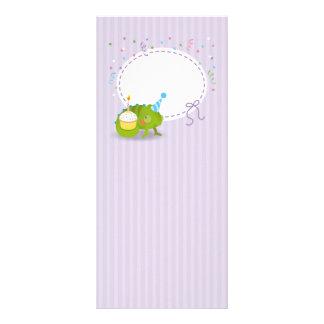 Chameleon birthday rack card