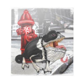 Chameleon Boston Terrier Notepad