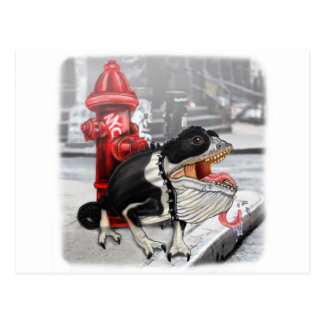 Chameleon Boston Terrier Postcard