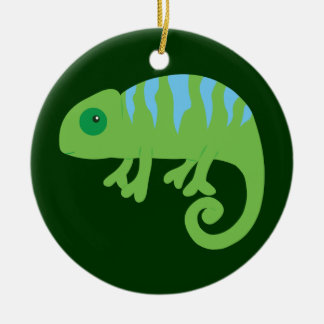 Chameleon Ceramic Ornament