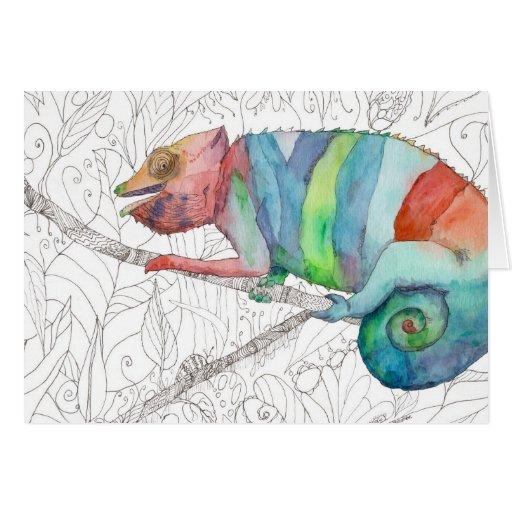 Chameleon Fail Greeting Card