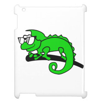 Chameleon hipster cool animal designs. iPad cover