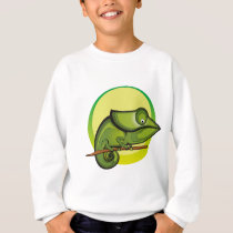 Chameleon Illustration Fashion Sweatshirt