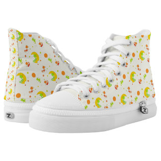 Chameleon Night-Repeated High-Top Sneakers