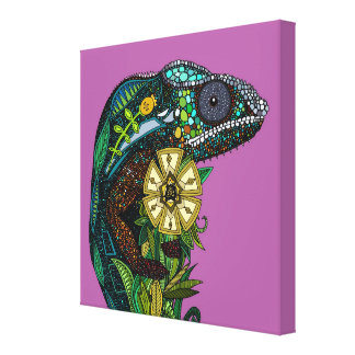chameleon orchid gallery wrapped canvas