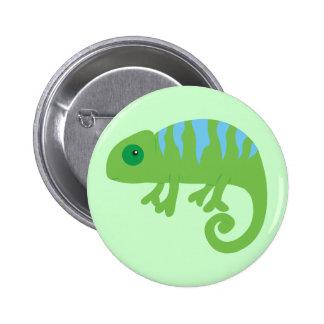 Chameleon Pinback Button