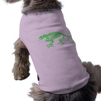 Chameleon Skeleton Dog Shirt