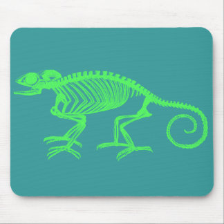 Chameleon Skeleton Mouse Pad