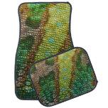 Chameleon Skin Texture Template Car Floor Mat