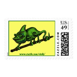 Chameleon stamp design