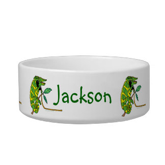 Chameleon Talking Reptile Personalized Pet Bowl Cat Food Bowls