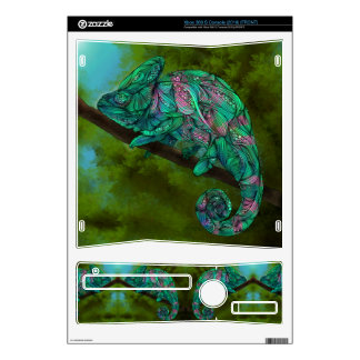 Chameleon Xbox360 Skin Decals For Xbox 360 S