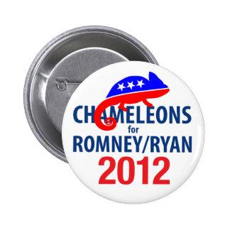Chameleons for Romney Ryan 2012 Pins