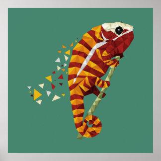 Chameleons geometric art poster