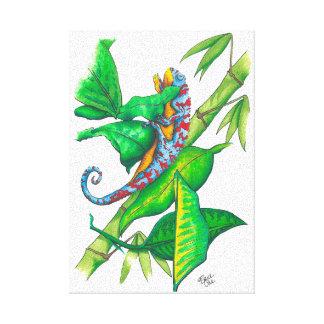 chamelian tropical impresiones en lienzo estiradas