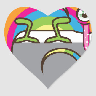 Chamelion vector heart sticker