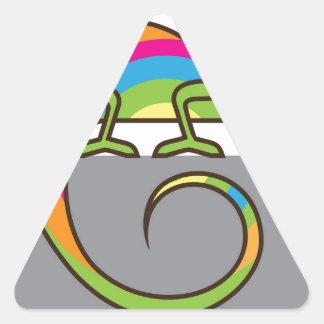 Chamelion vector triangle sticker
