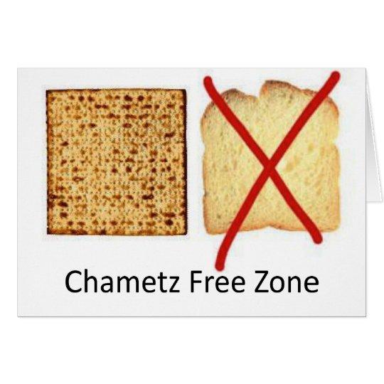 Chametz Free Zone Card
