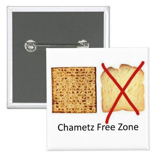 Chametz Free Zone Pinback Button