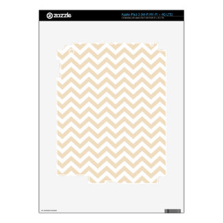 Chamois Neutral Beige Unicolor Chevron Pattern Decals For iPad 3