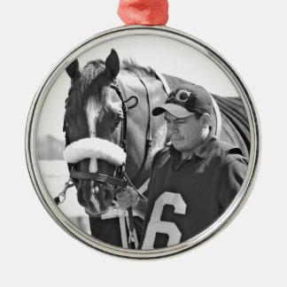 Chamois Round Metal Christmas Ornament