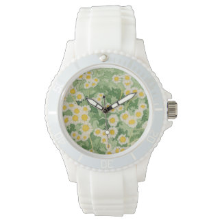 Chamomile Floral Daisy Pattern Watch