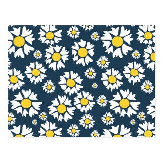 Chamomile flower pattern postcard