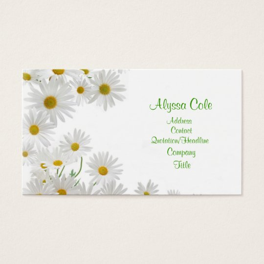 Chamomile Flowers Business Card