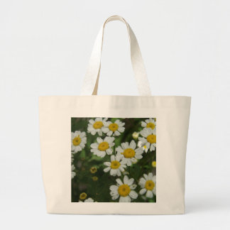 Chamomile Flowers Large Tote Bag