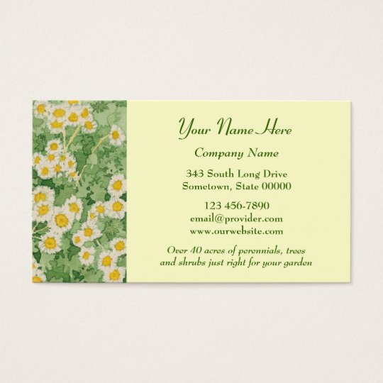 Chamomiles Business Cards