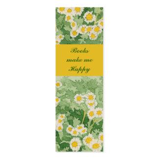 "Chamomiles Daisies 1"" x 3"" Mini Book Marker Mini Business Card"