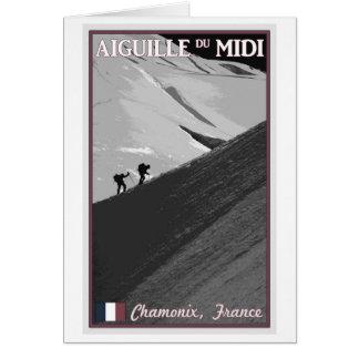 Chamonix - Aiguille du Midi Arete Card