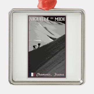 Chamonix - Aiguille du Midi Arete Metal Ornament